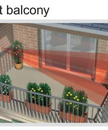 Optex FTN-R Fit at balcony